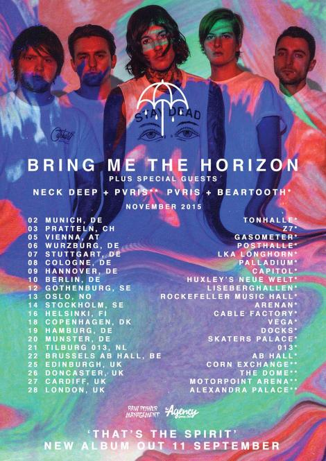 bring me the horizon tour